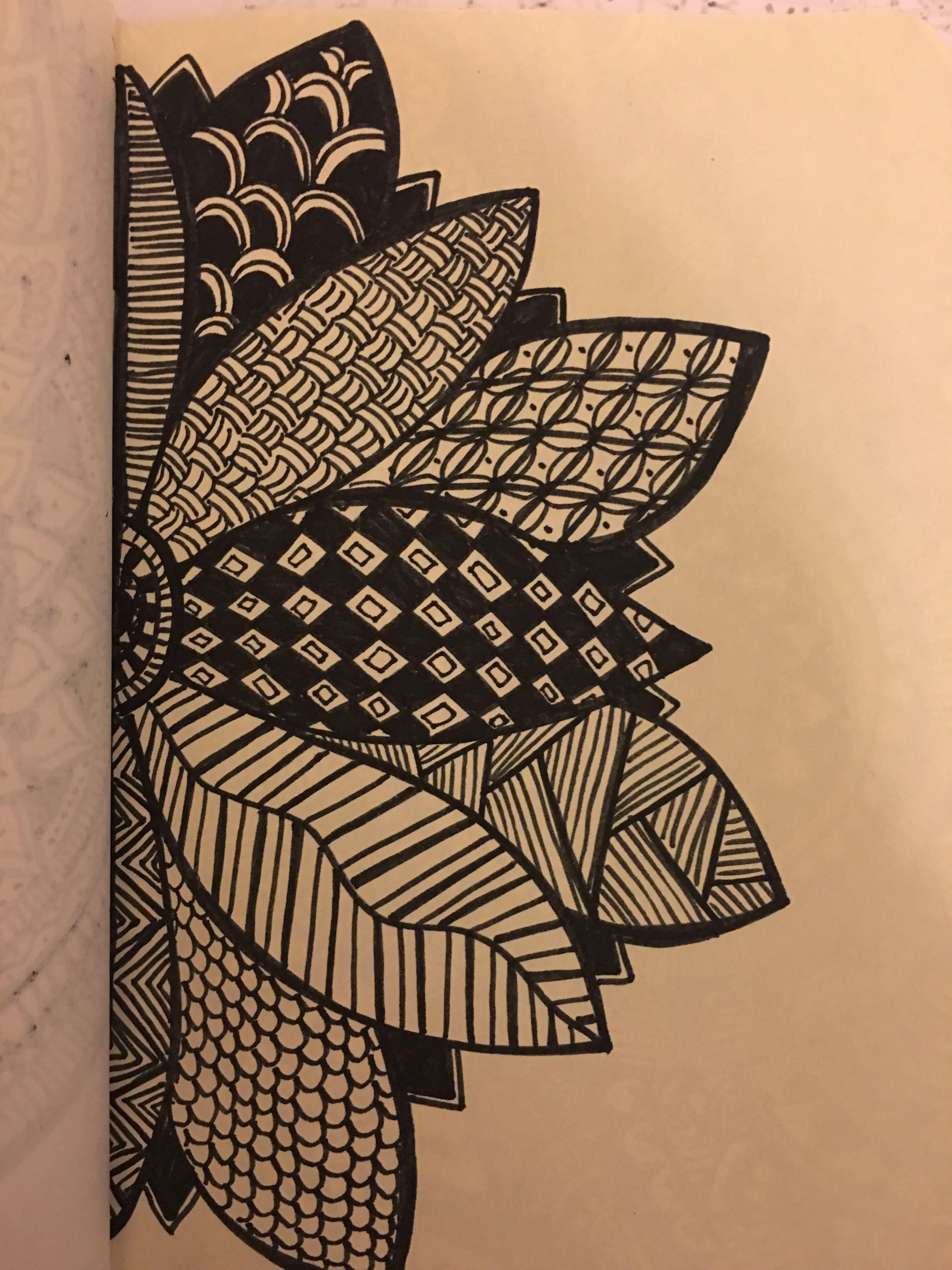 Creative drawings with images mandala design art