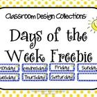 This is a freebie from the Classroom Design Collection: Blue and Red Polka Dots. These are days of the week signs for your bulletin board. ...