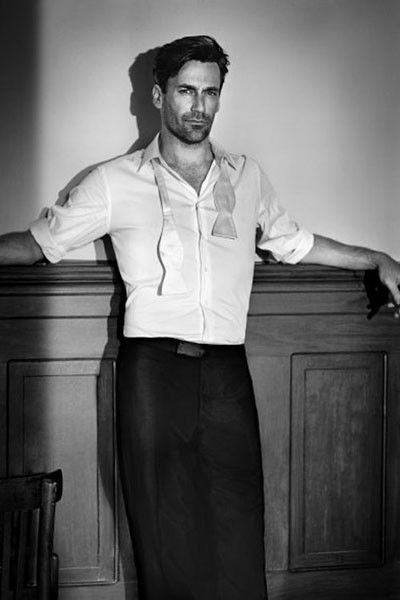 MenStyle1- Men's Style Blog-- Jon Hamm is so unbelievably good looking!!!