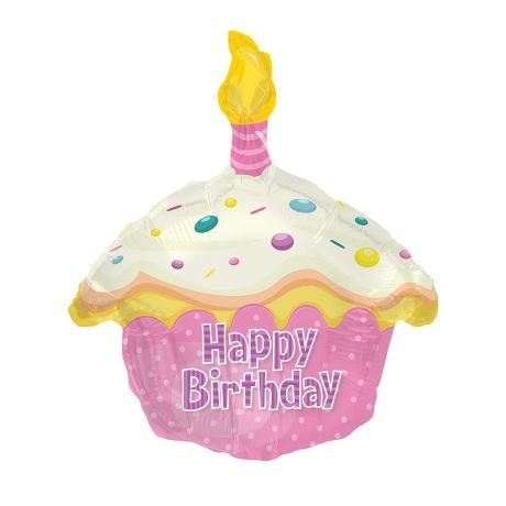Bunchescouk Pink Birthday Cake Balloon BCAKEP Make Their Day Really Special With This Fun Shaped Happy Helium Delivered Fully