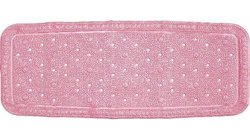 Baveno Non Slip Bath Mat Grund Colour Pink Luxury Bath Mats