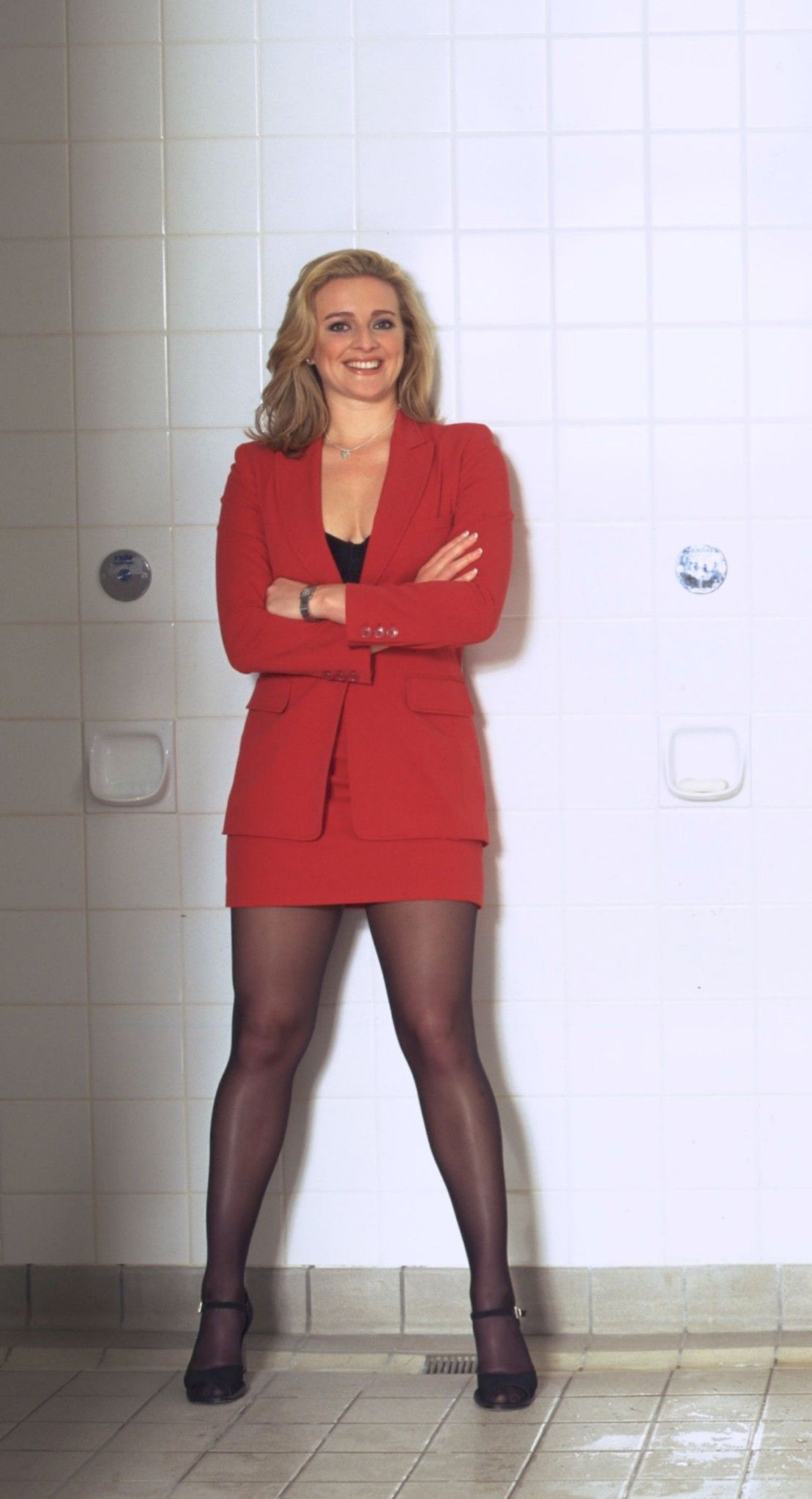 Gabby Logan Outfits Stockings And Stilettos In 2019