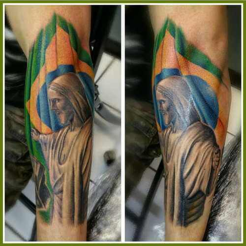 Christ The Redeemer Tattoo Best Sleeve Tattoos Sleeve Tattoos