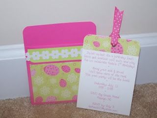 Homemade Birthday Invites For A Little Girls Party I Might Have To Try This Since Get Isabellas Out In The Next Couple Weeks
