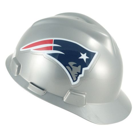 The New England Patriots Hard Hat is an MSA V-Gard hard hat with officially  licensed Patriots team decals and a comfortable 39a744eb0