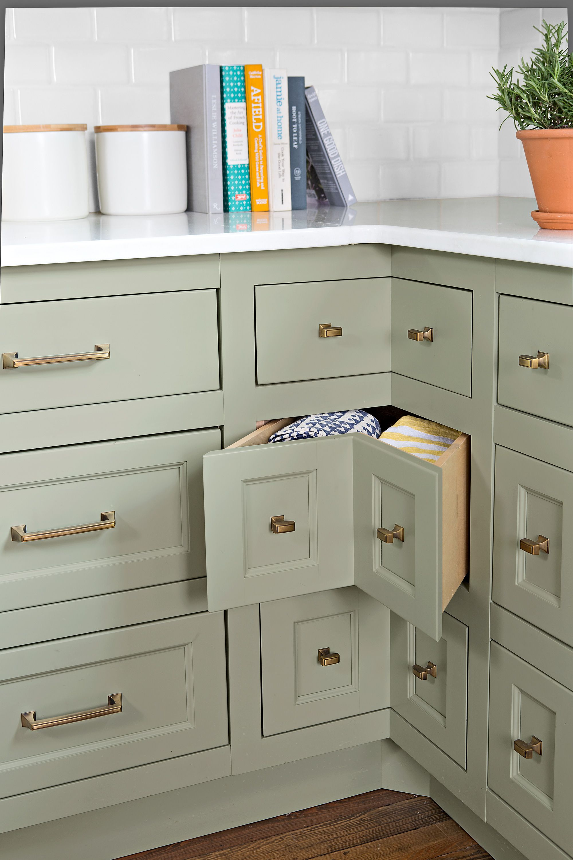 Before and After A Kitchen Well Done   Vintage cabinets, Green ...