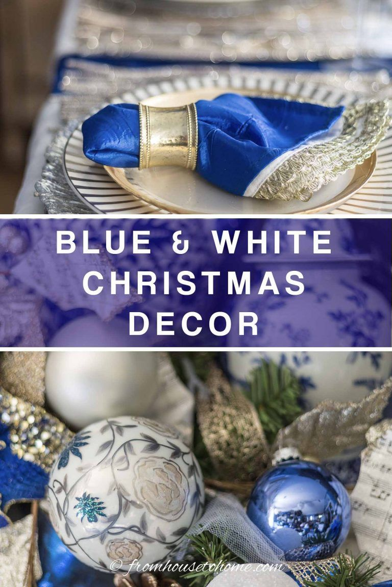 Beautiful Blue and White Christmas Home Decorating Ideas (Plus 18 Other Bloggers' Christmas Home Tours)