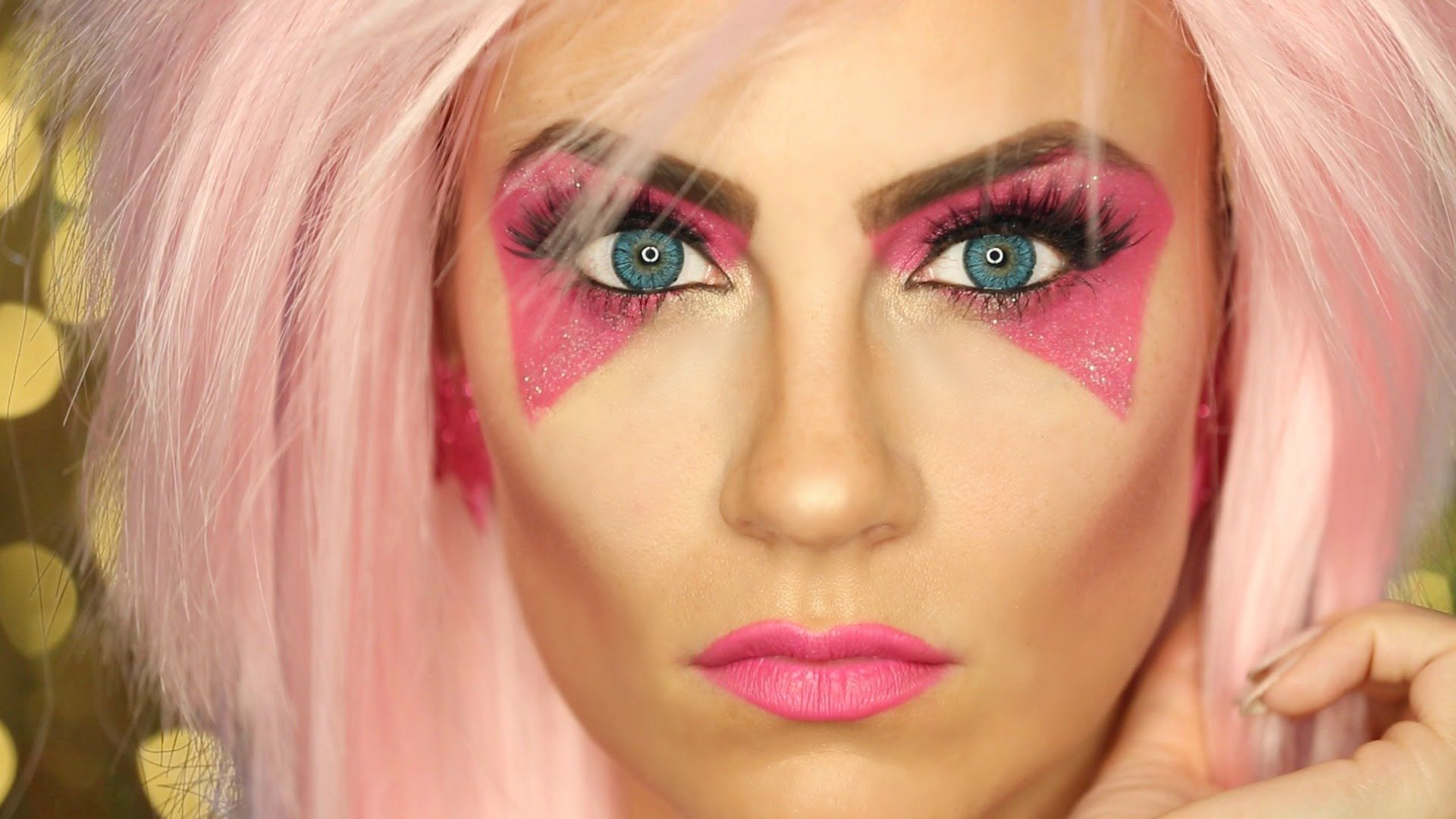 Jem and the Holograms Halloween Makeup Tutorial! So easy ...