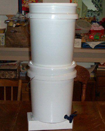 """How To Make A Homemade """"Berkey"""" Water Filter - http://www"""