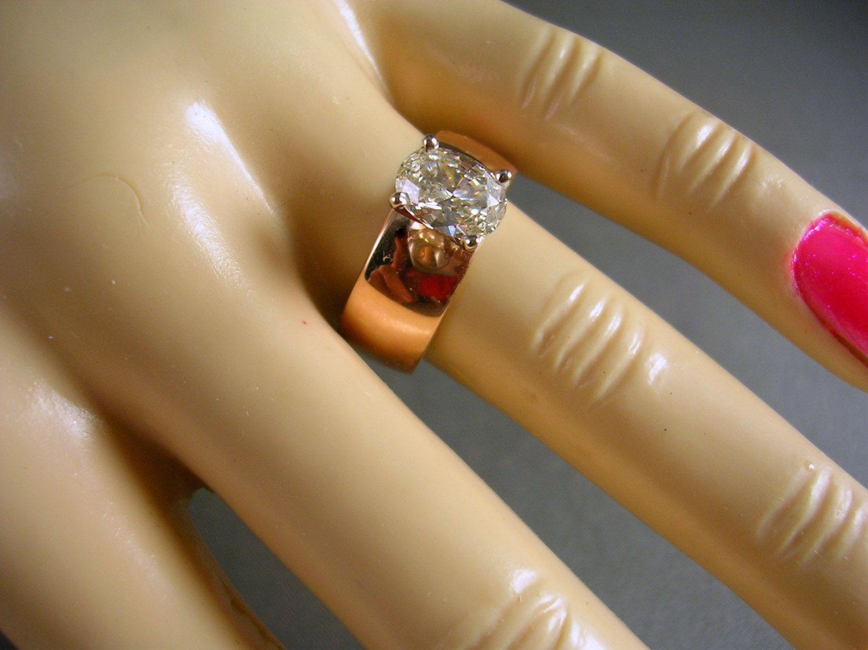 18 Carat EC Ruby Ring in 14K Yellow Gold Basket Mounting Size 775