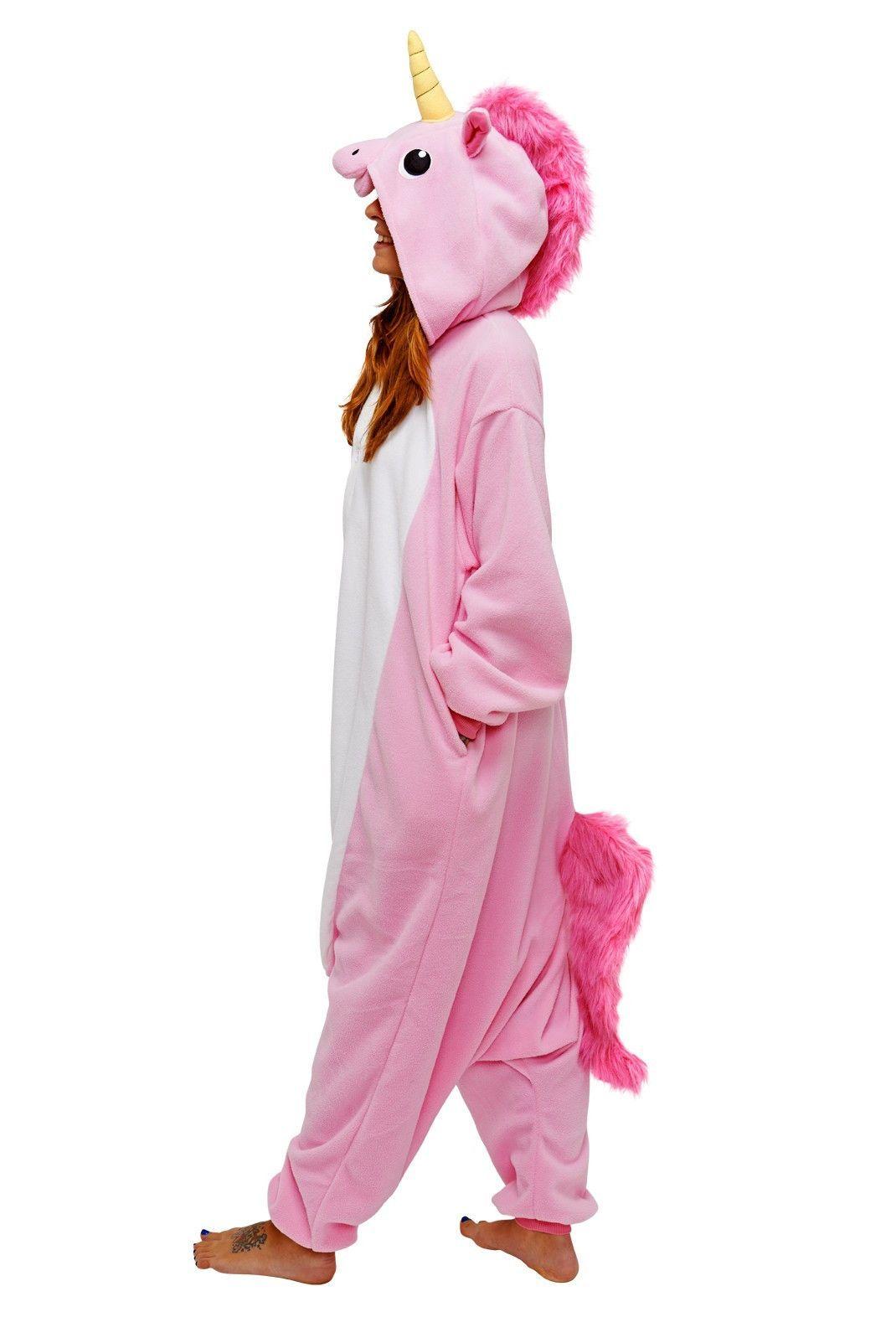 New Adult Unisex Animal  Cosplay Costume Unicorn Pony Kigurumi Pajamas UK