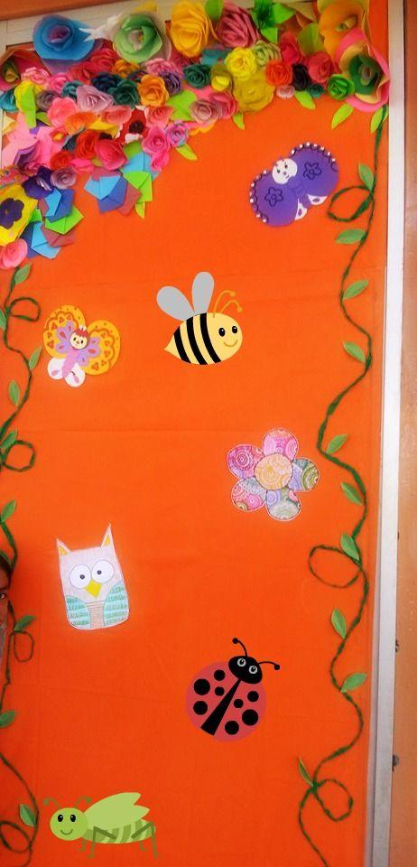puerta de primavera puertas decoradas pinterest