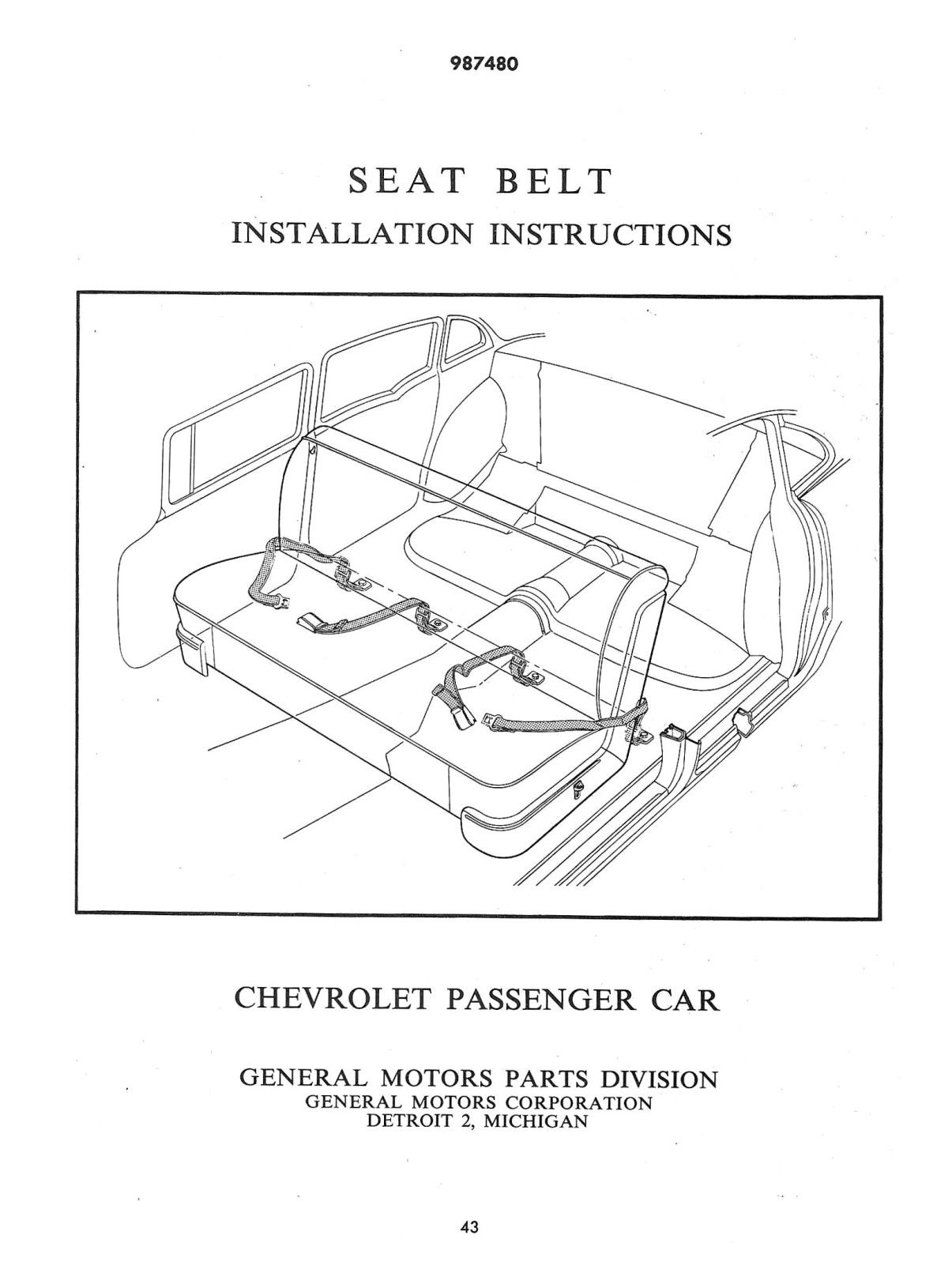 Seat Belt Info Truck Accessories 1955 Chevy Bel Air Chevrolet
