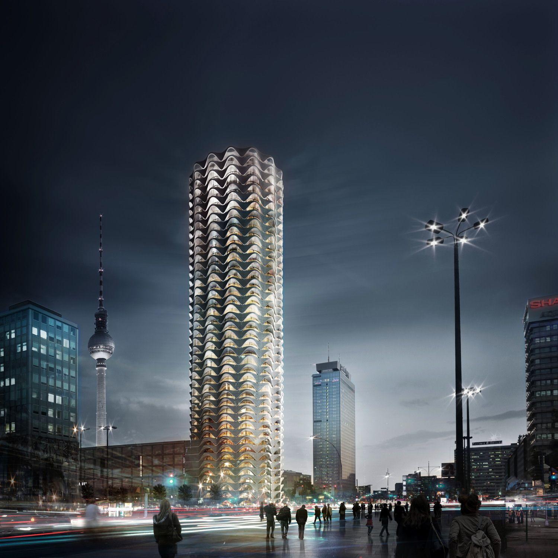 Turmbau Am Alex Alle Bilder Vom Berliner Wettbewerb Futuristische Architektur Bilder Architektur