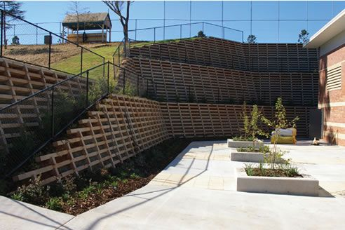 Crib Wall Retaining Systems Concrib Richlands Qld 4077 Concrete Sleeper Retaining Walls Crib Wall Retaining Wall
