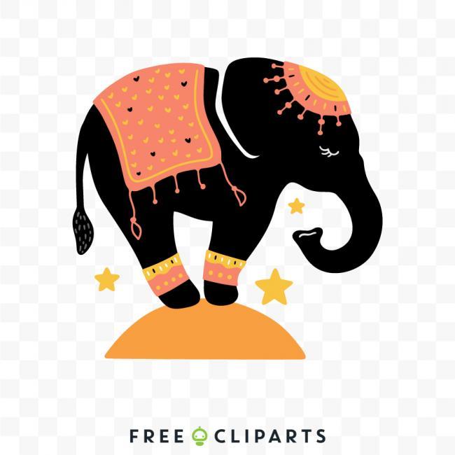 Free Animals Clip Arts And Vectors Circus Elephant Clip Art Elephant Clip Art