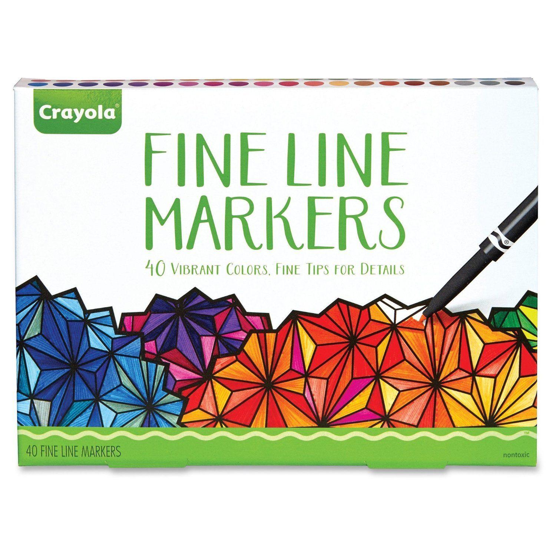 Amazon.com: Crayola adultos Bellas marcadores de línea - 40 Count ...