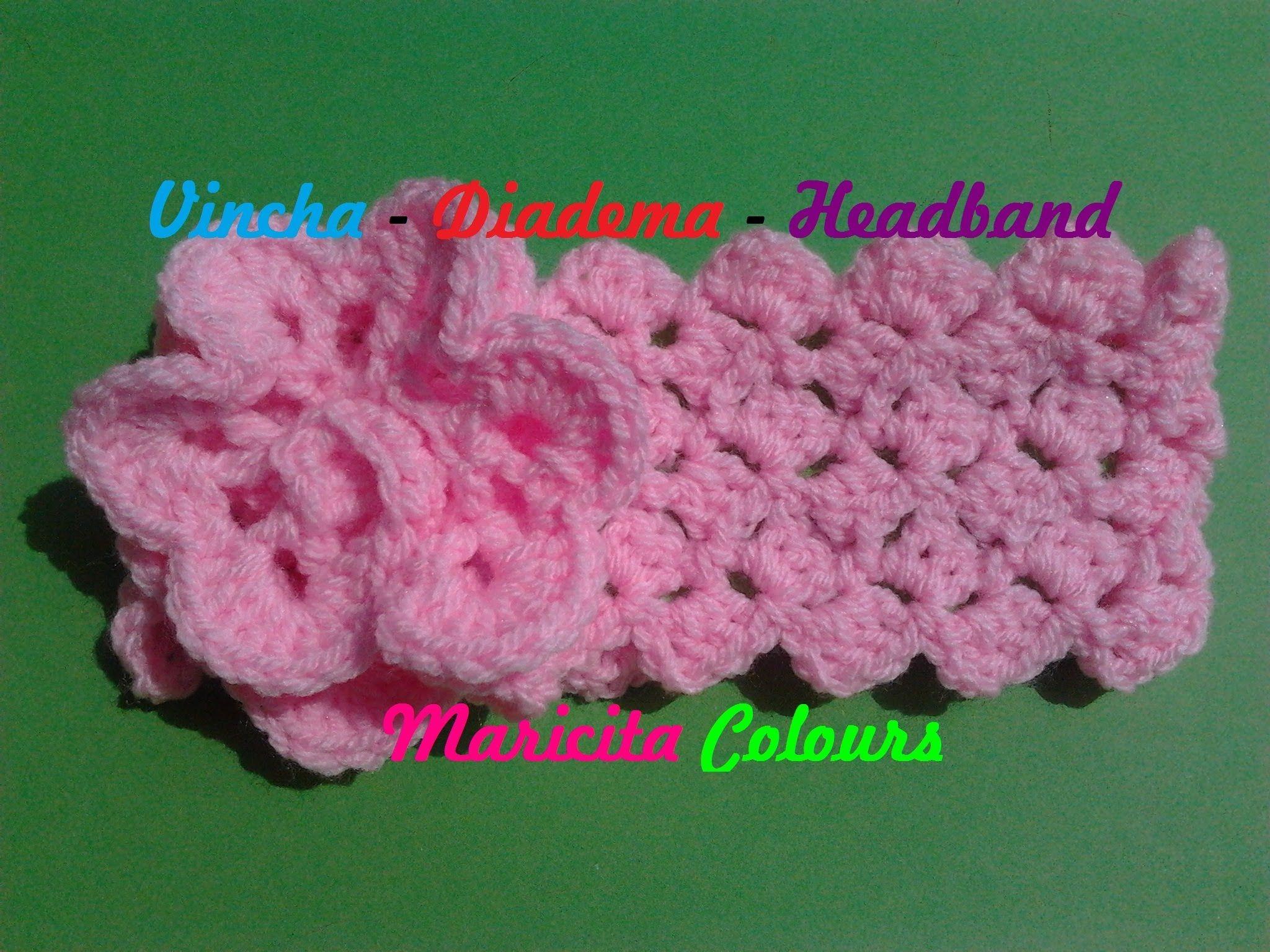 Crochet tutorial vincha diadema ykita f cil tutorial de - Diademas a crochet ...
