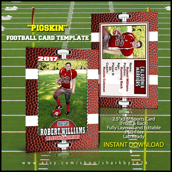 Photoshop Football Card Template Great for sports by Sharkbyte2k - trading card template