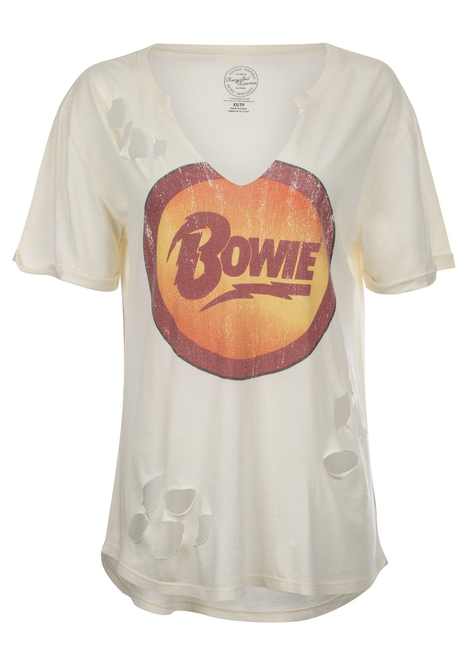 1764b705e DAVID BOWIE Distressed Band Tee by Recycled Karma | •BAND TEES ...