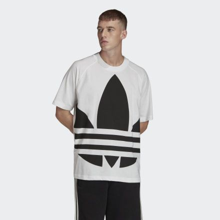adidas Big Trefoil Boxy Tee – Weiß | adidas US   – Products
