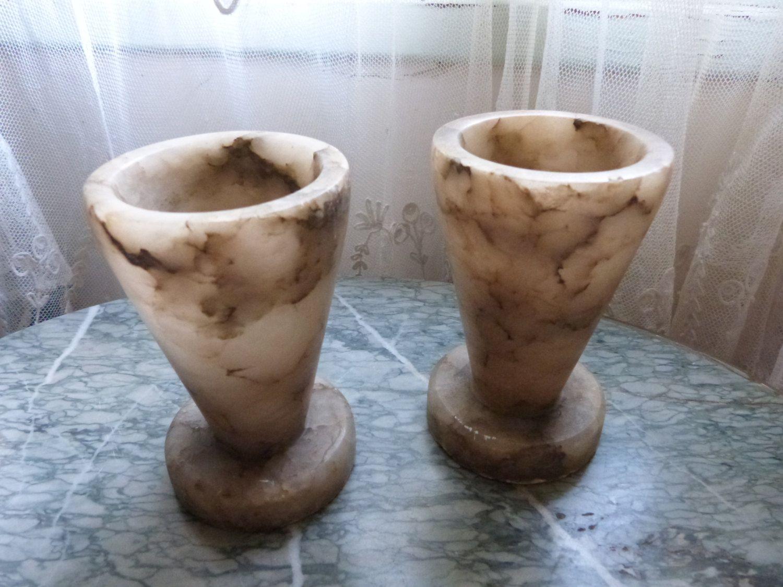 Pair antique french vases artdeco alabaster vases garden art deco pair antique french vases artdeco alabaster vases garden art deco mantel flower reviewsmspy