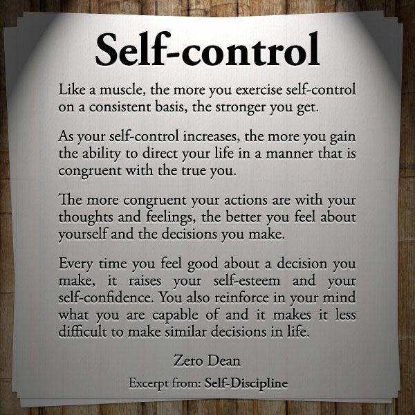 Excerpt from: Self-discipline #zerosophy