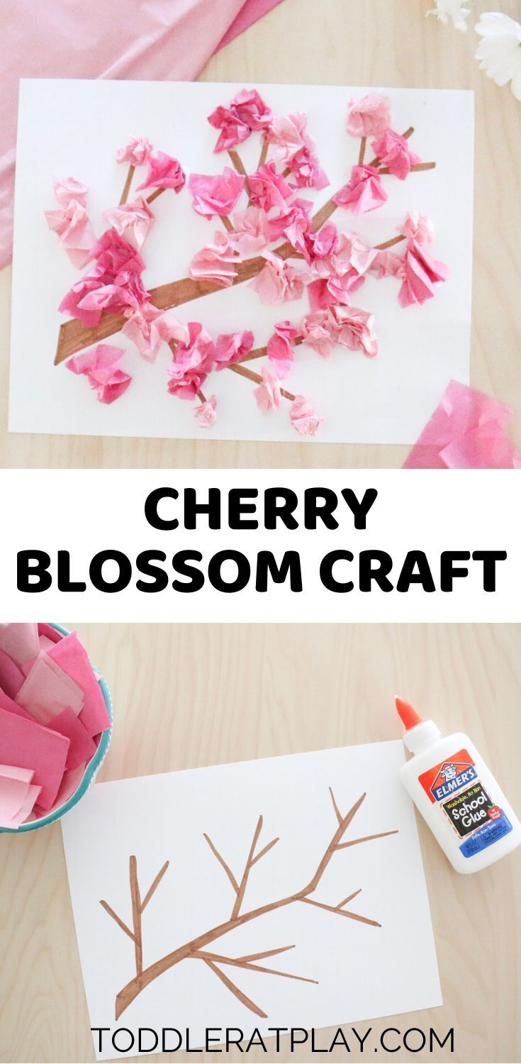 Cherry Blossom Craft - Toddler at Play