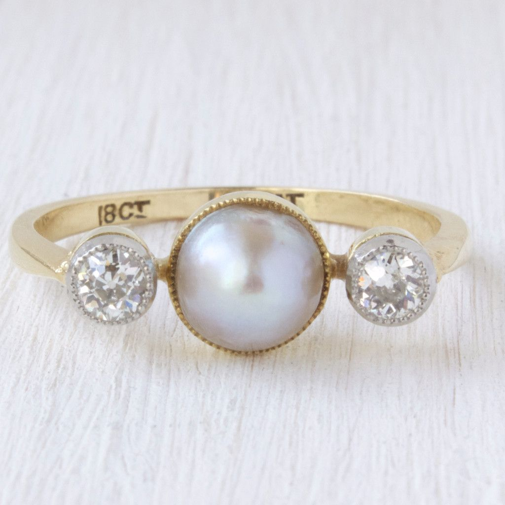 margot | diamonds, victorian and cultured pearls