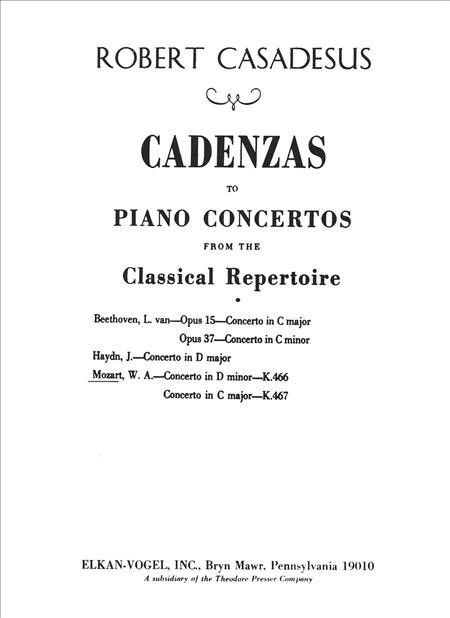 Cadenzas To Piano Concertos From The Classical Repertoire (Solo Part)
