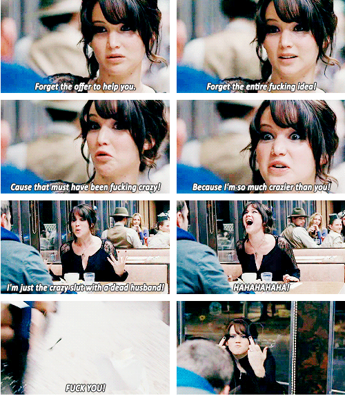 her face reaction to this scene is priceless and love it when she did the f*ck hand sign at the end ahaha