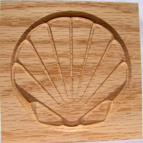 Scallop shell rosette corner block oak pine paint grade
