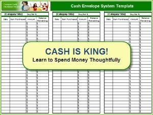 Free cash envelope system template by Amethyst4292 | Planners ...