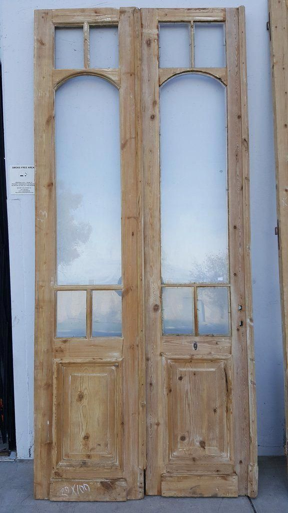 Pair of Wooden and Glass French Doors #kitchendoors