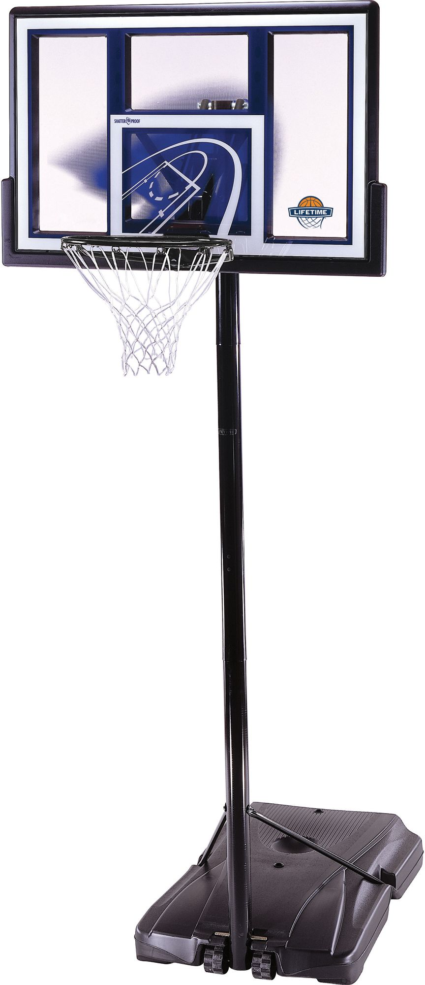Lifetime 48â Portable Basketball Hoop, Silver Portable