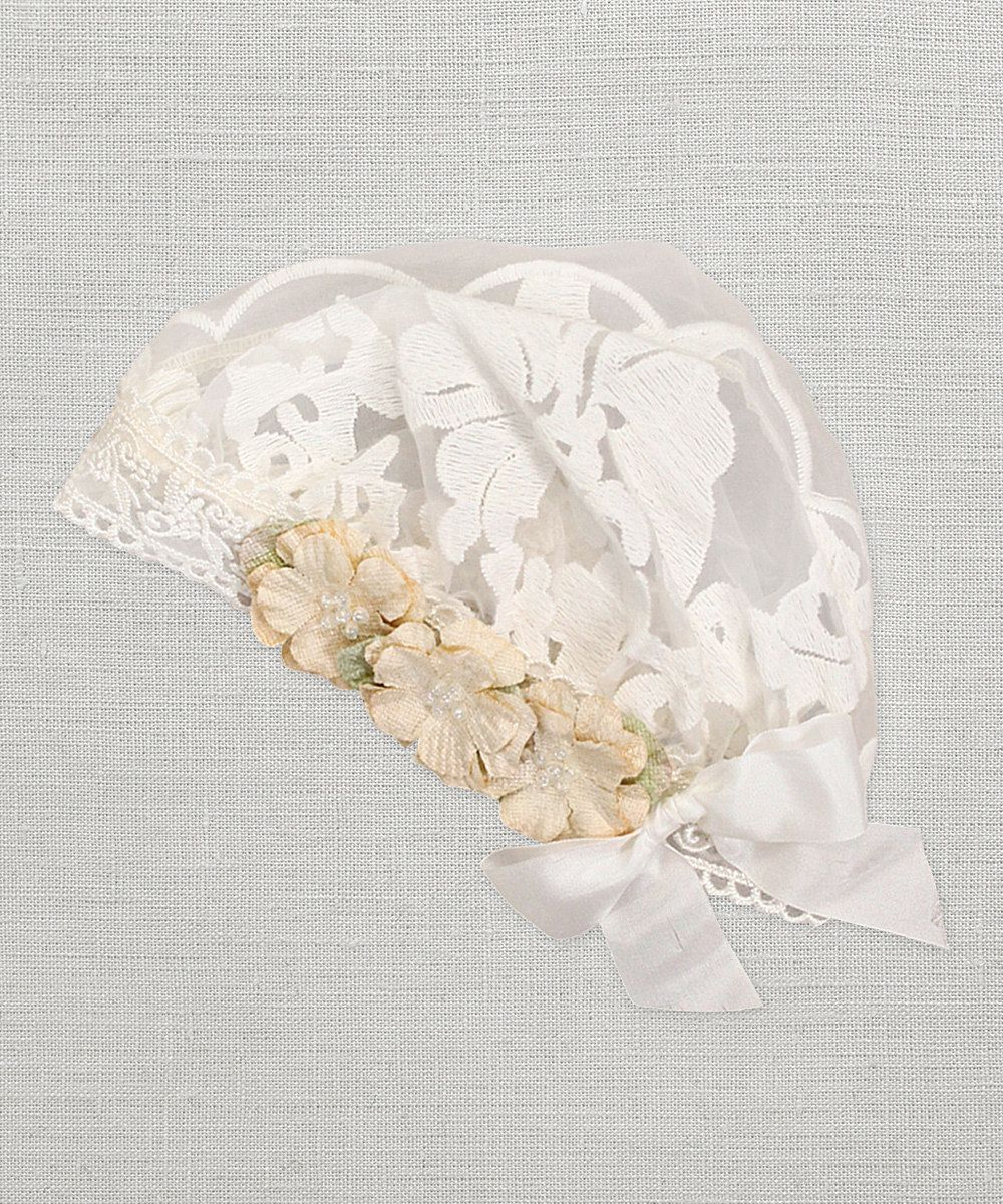 Look at this Truffles Kids Ivory Gabriella Flower Beanie on #zulily today!