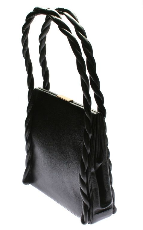 Unusual Koret Leather Handbag From A Collection Of Rare Vintage Handbags And Purses At