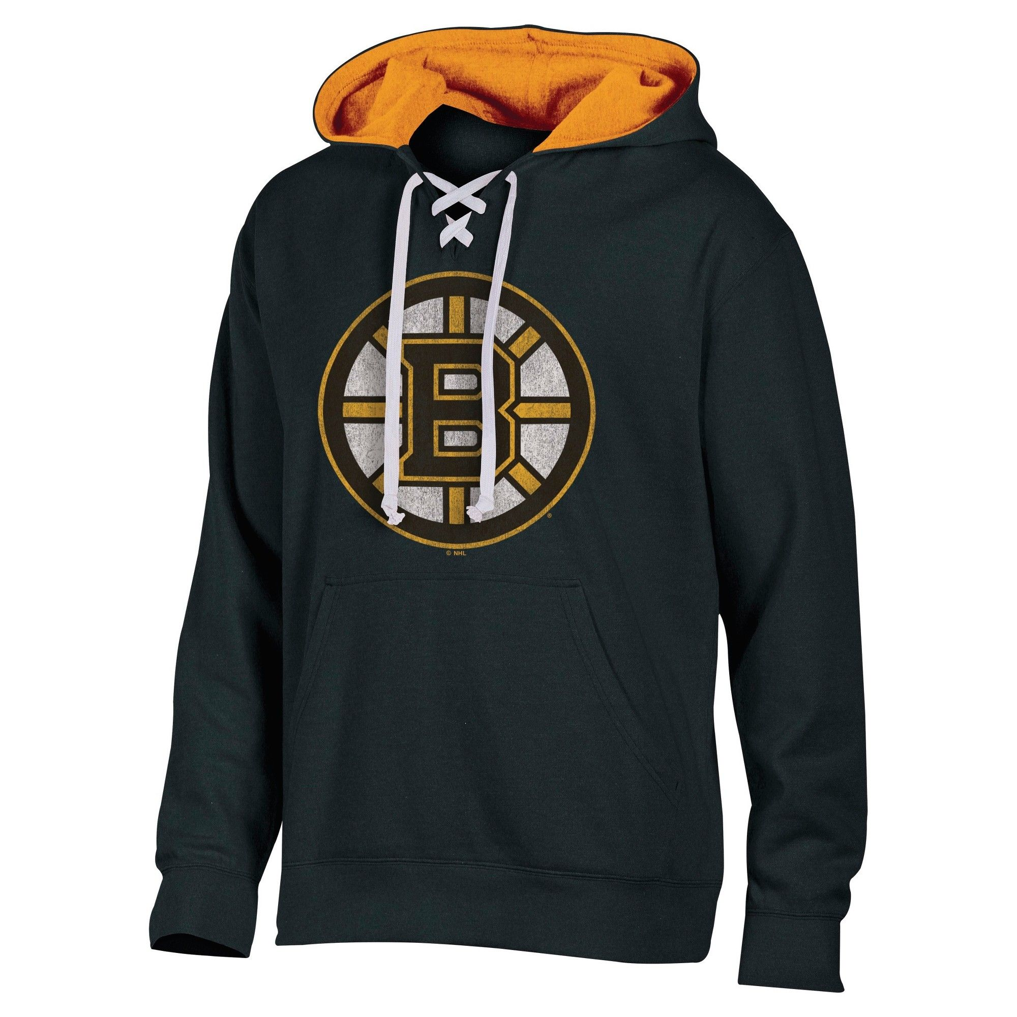 online store 02281 a8450 Boston Bruins Men's Lace-Up Pullover Hoodie Sweatshirt L ...