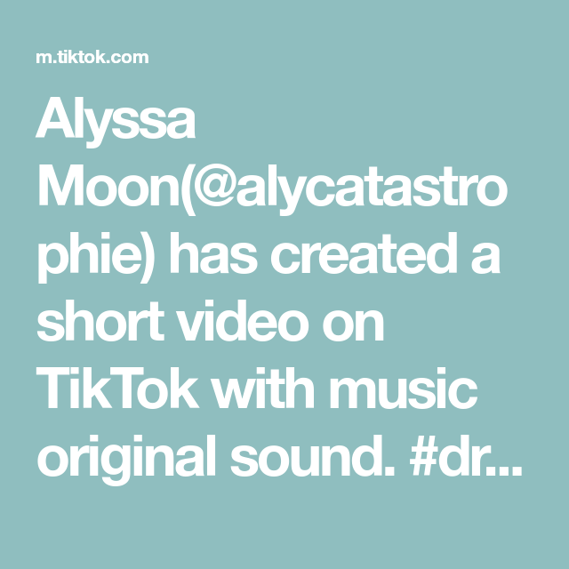 Alyssa Moon Alycatastrophie Has Created A Short Video On Tiktok With Music Original Sound Dracula Garlic Eastass Fans Only Aly The Originals Music Video