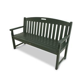 Amazing Trex Outdoor Furniture Yacht Club 59.5 In W X 24.25 In L Rainforest Canopy Plastic  Patio Bench Txb60rc | Patio Furniture | Pinterest | Plastic Patio ...