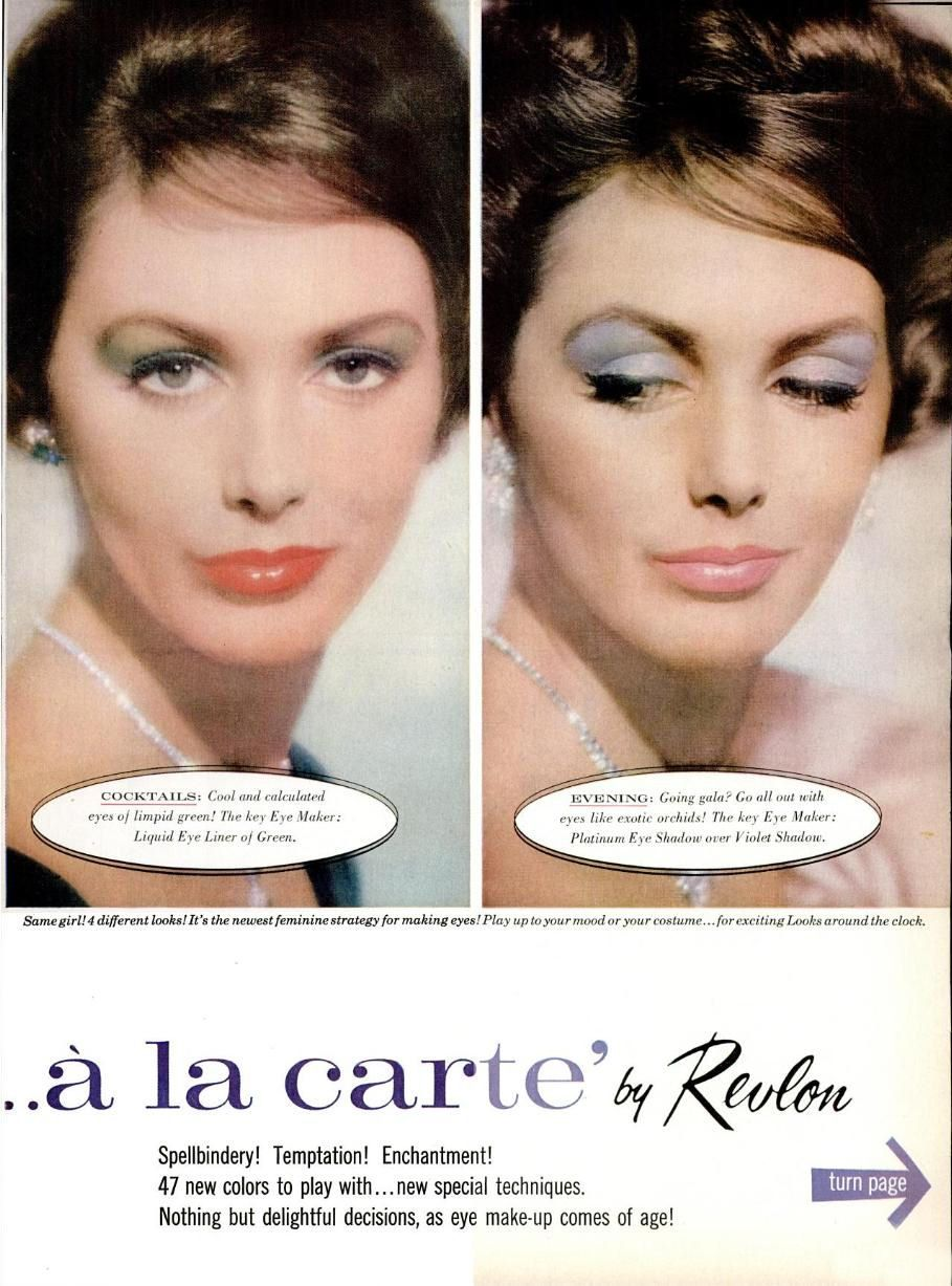 Revlon 1959 beauty in 2019 Vintage makeup ads, Revlon