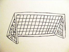 How To Draw A Soccer Goal Ehow Soccer Goal Soccer Drawing Soccer