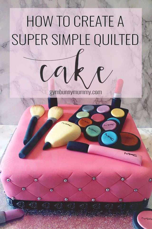 How To Create A Super Simple Quilted Effect Cake No Measuring Rulers Or