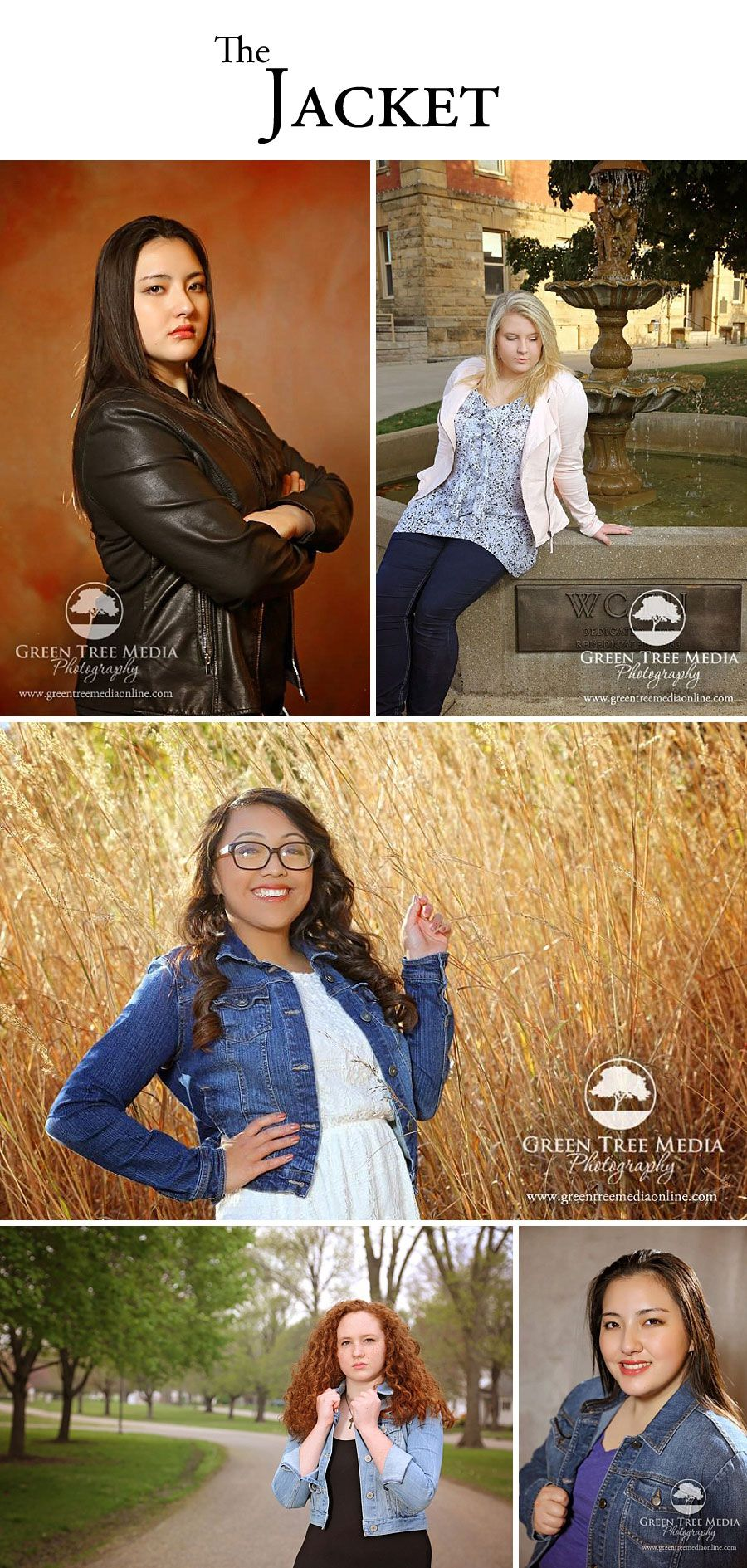 The Jacket is an awesome way to dress up or down your outfit for your senior portrait session