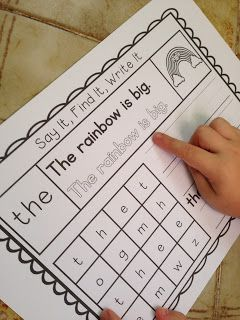 Teachable Moments: Say It, Write It, Find It Sight Words | K-ELA ...