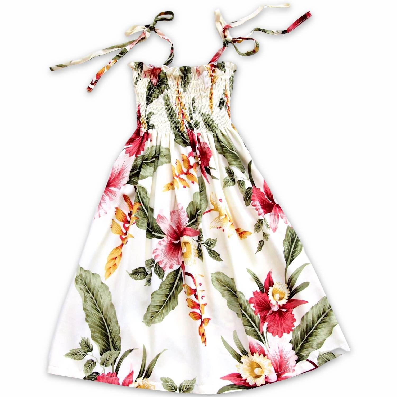 c047677317 Cloud Cream Sunkiss Hawaiian Girl Dress