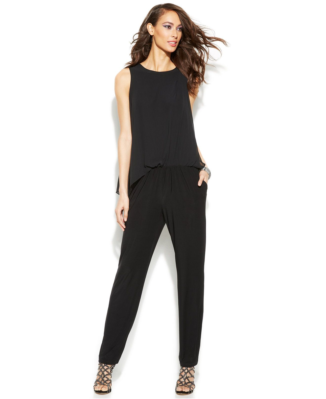 17fed6aabaa INC International Concepts Sleeveless Slim-Leg Jumpsuit - Jumpsuits &  Rompers - Women - Macy's