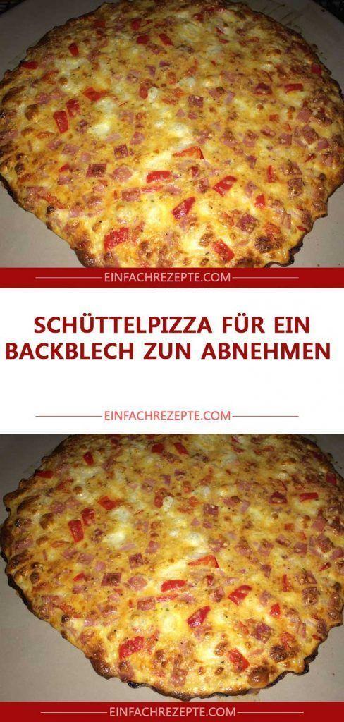 Nehmen Sie die schüttelnde Pizza für ein Backblech heraus
