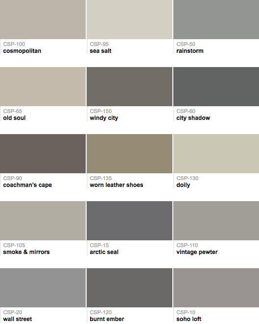 Collection Of Grays That Have A Mix Of Warm And Cool
