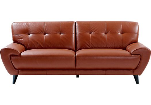 For A Cindy Crawford Home Midtown East Terracotta Leather Sofa At Rooms To Go Find Sofas That Will Look Great In Your And Complement The